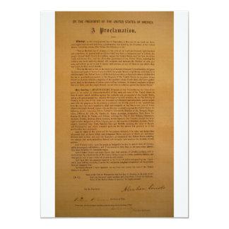 Emancipation Proclamation Typeset 1864 Personalized Invitation
