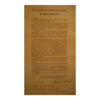Emancipation Proclamation Typeset 1864 Poster