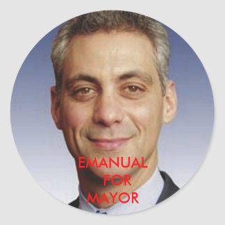 EMANUAL  FOR MAYOR CLASSIC ROUND STICKER
