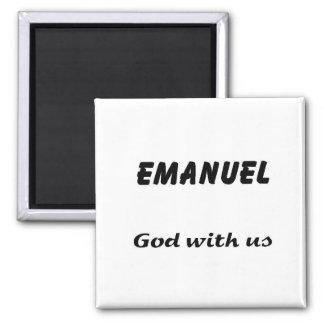 Emanuel 2 Inch Square Magnet