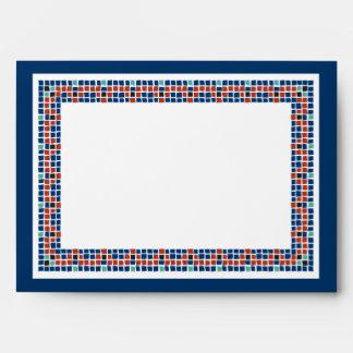 Emanuel Star Mosaic Navy Rust Envelope