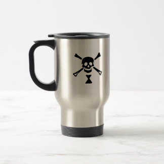 Emanuel Wynne black skull travel mug