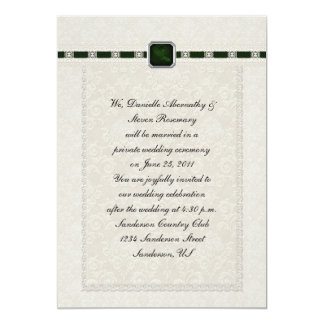 Emarld Ribbons & Lace Post Wedding Personalized Announcement