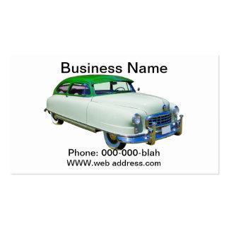 Embajador 1950 de Nash coche antiguo Tarjetas De Visita