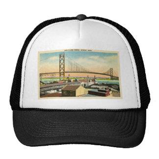 Embajador Bridge vintage de Detroit, Michigan Gorro De Camionero