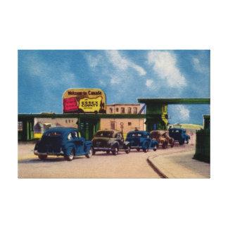 Embajador Bridge Windsor Canadá del vintage Lienzo Envuelto Para Galerías