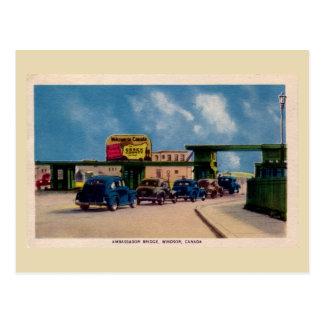 Embajador Bridge Windsor Canadá del vintage Tarjetas Postales