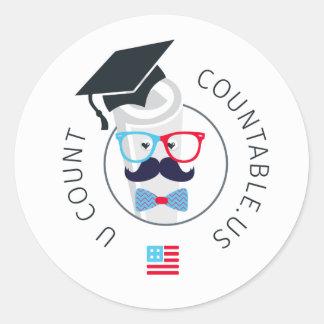 Embajador contable Sticker de la universidad Etiquetas Redondas