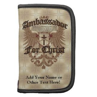 Embajador For Cristo verso de la biblia de los Co Organizador