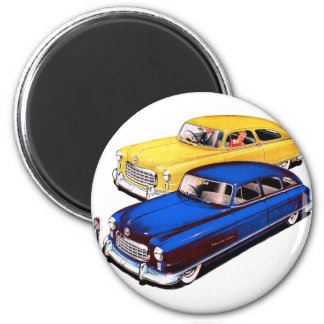 Embajador retro Art de Nash del coche del kitsch d Imán Redondo 5 Cm