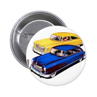Embajador retro Art de Nash del coche del kitsch d Pin Redondo De 2 Pulgadas