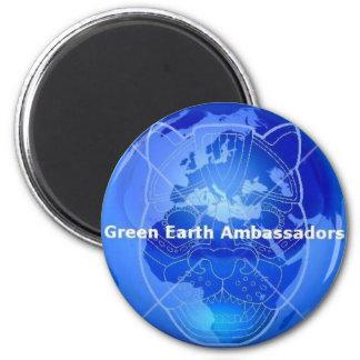 Embajadores de la tierra verde imán redondo 5 cm