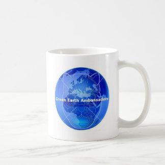 Embajadores de la tierra verde taza de café
