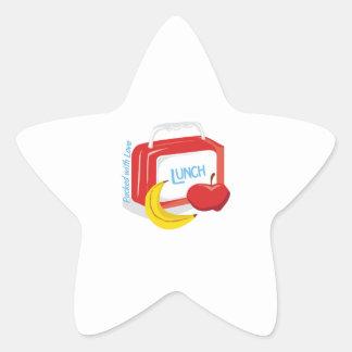 Embalado con amor pegatina en forma de estrella