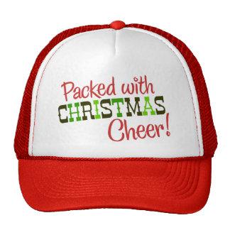 Embalado con la camiseta de la alegría del navidad gorro de camionero