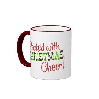 Embalado con la taza de la alegría del navidad