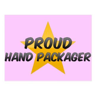 Embalador orgulloso de la mano tarjetas postales