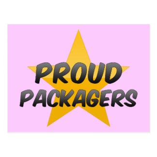 Embaladores orgullosos postal