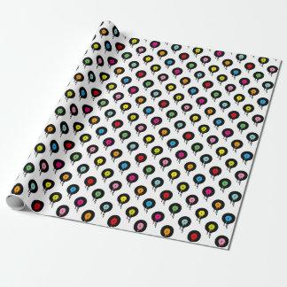 Embalaje de fusión colorido del modelo de punto papel de regalo