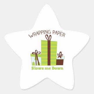 Embalaje de los regalos pegatinas forma de estrella
