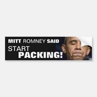 Embalaje del comienzo de Obama - elija a Mitt Romn Pegatina Para Auto
