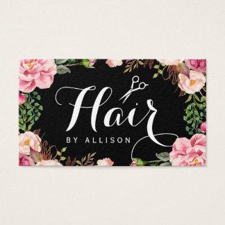 Embalaje floral romántico del estilista del tarjetas de visita