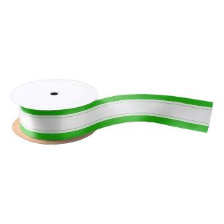 Embalaje rayado lindo blanco verde del día de