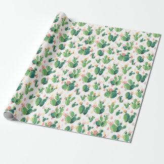 Embalaje temático del cactus peculiar papel de regalo