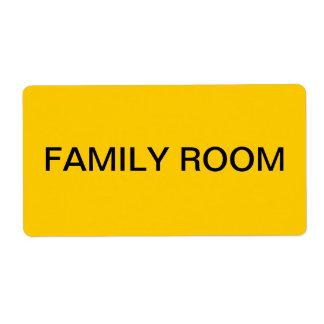 Embalaje y mudanza de la sala de estar etiqueta de envío