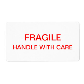 Embalaje y mudanza frágiles etiquetas de envío