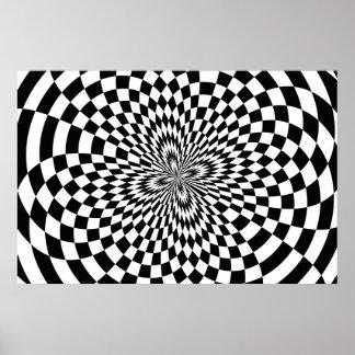 Embaldosado híper abstracto póster