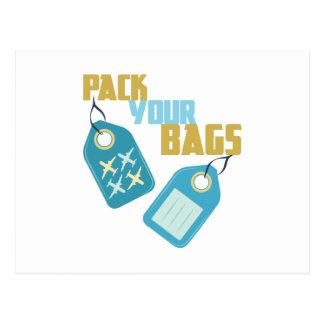 Embale sus bolsos postales