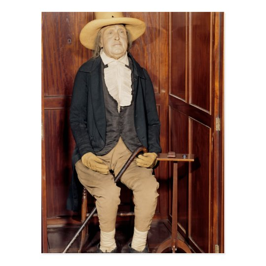 Embalmed body of Jeremy Bentham Postcard
