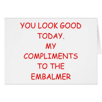 EMBALMER CARD
