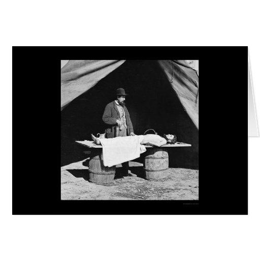 Embalming Surgeon at Work 1864 Greeting Card