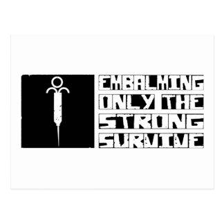 Embalming Survive Postcard