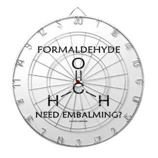 ¿Embalsamiento de la necesidad del formaldehído? ( Tabla Dardos