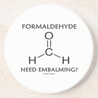 ¿Embalsamiento de la necesidad del formaldehído? ( Posavaso Para Bebida