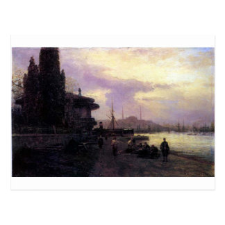 Embankment of Constantinople by Alexey Bogolyubov Postcard
