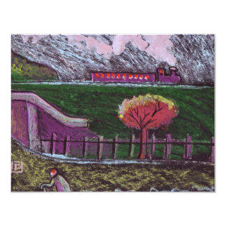 EMBANKMENT WITH TRAIN CARD