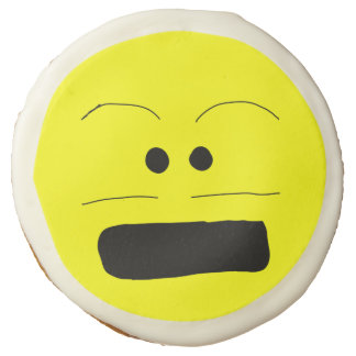 Embarassed Smiley Face Cookie Sugar Cookie