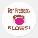 Embarazo adolescente etiquetas redondas