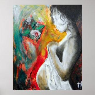 embarazo-pintura póster