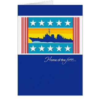 Embarcación patriótica 3442 felicitación