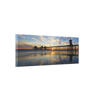 Embarcadero 10/6/13 de Huntington Beach de la pues Impresión De Lienzo