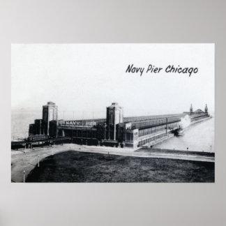 Embarcadero 1930 de la marina de guerra de Chicago Impresiones