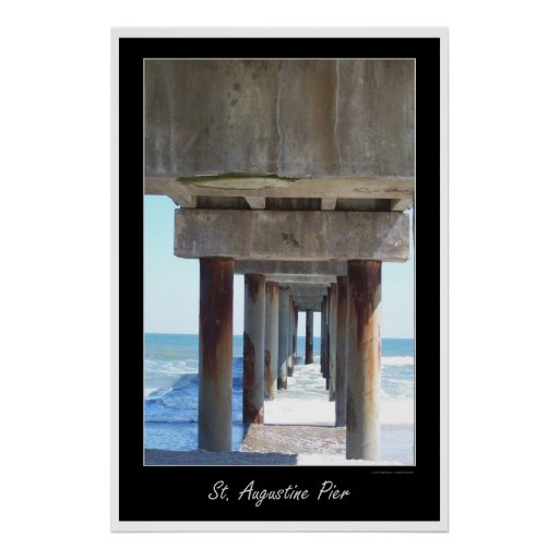 Embarcadero 2 de St Augustine Poster
