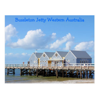Embarcadero Australia occidental de Busselton Tarjeta Postal