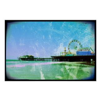 Embarcadero azul de Santa Mónica Perfect Poster