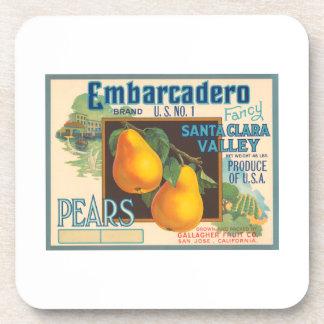 Embarcadero Brand Vintage Crate Label Drink Coaster